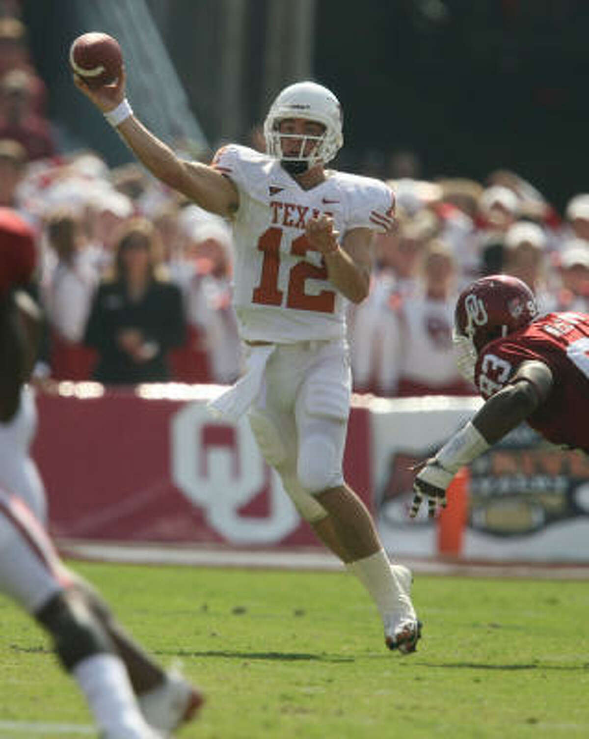 Saturday was a signal that Texas is better than anyone thought and that Colt McCoy might be every bit as capable of doing what Vince Young did in 2005, Richard Justice writes.