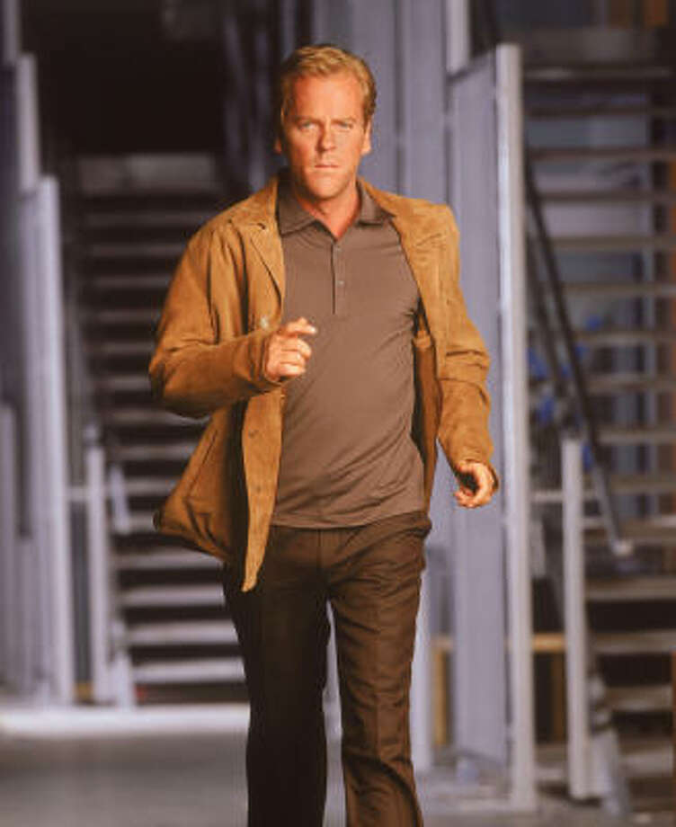 Kiefer Sutherland could take the statue for best actor for his role as Jack Bauer in Fox's 24. Photo: Fox