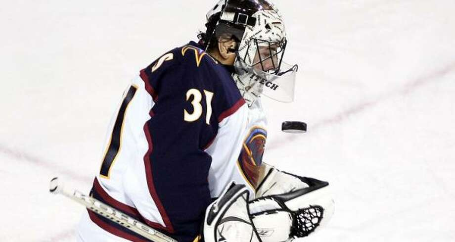 Looking for more help at goalie, the Aeros invited veteran Steve Shields to training camp on a tryout contract. Photo: CHRISTINNE MUSCHI, Reuters