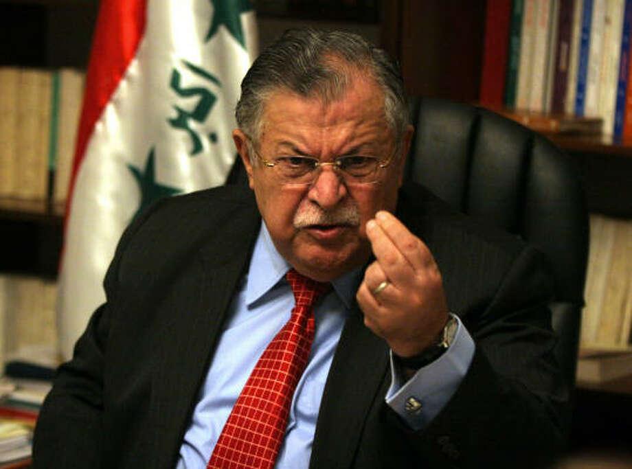 Iraqi President Jalal Talabani rejected the recommendations of a high-level U.S. report pushing for a change of American strategy in the war-torn country. Photo: SAMIR MIZBAN, AFP/Getty Images
