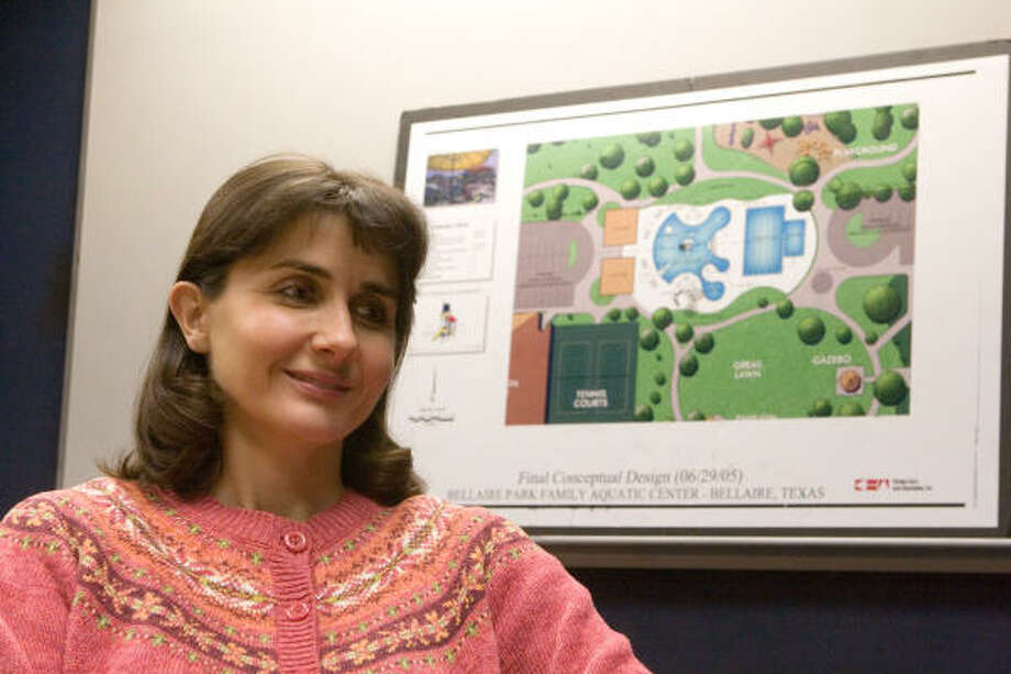 Mandy Nathan is president of the Patrons for Bellaire Parks, whose members want to renovate Bellaire and Loftin parks. Photo: R. Clayton McKee, For The Chronicle