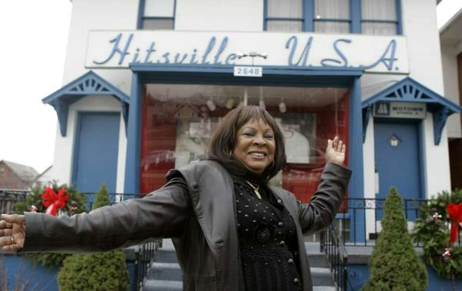Martha Reeves, former leader of Martha and the Vandellas, stands at the front door of the Motown Historical Museum in Detroit. Photo: CARLOS OSORIO, ASSOCIATED PRESS