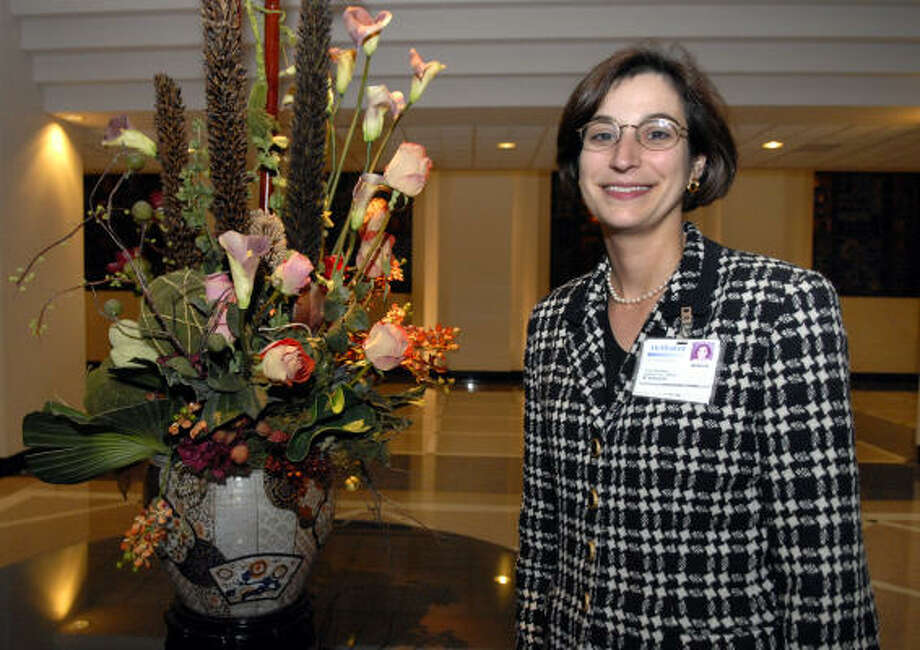 Roberta Levy Schwartz will be awarded a Houston Chapter of Hadassah's Women of Courage honor highlighting heart disease in women. Schwartz is vice president of operations at the DeBakey Heart Center at Methodist Hospital. Photo: Kim Christensen, For The Chronicle