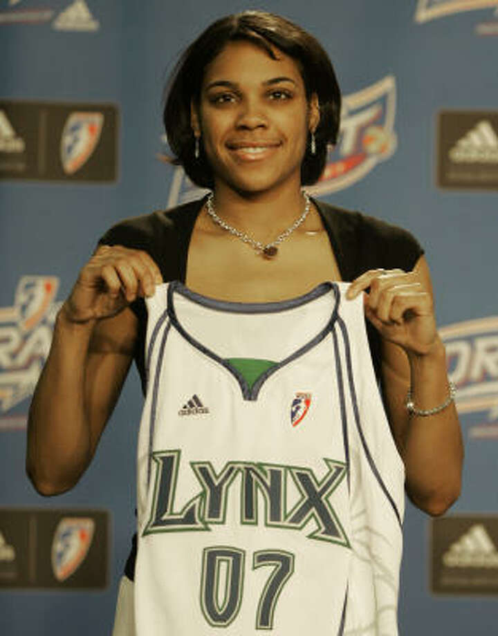 It took about 15 minutes for Duke guard Lindsey Harding to be traded to Minnesota. Photo: Tony Dejak, AP