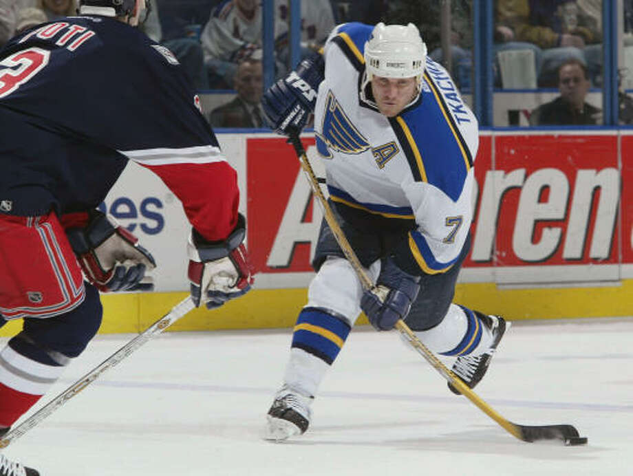 Free agent Keith Tkachuk's rights have been returned to the St. Louis Blues in a trade with the Thrashers. Photo: Elsa, Getty Images/NHLI