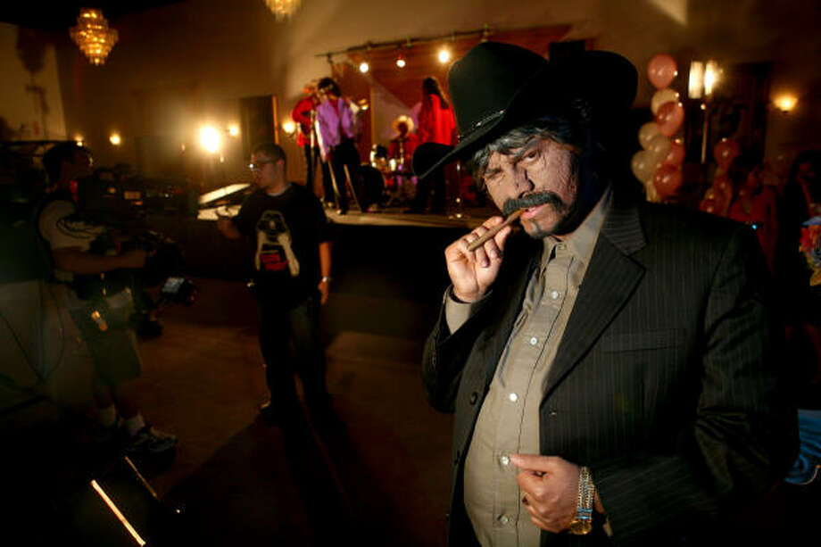 In the Do It! (Do the Runnin' Man)  clip, Chingo Bling is almost unrecognizable as Don Armando Ochoa. Photo: ERIN TRIEB, FOR THE CHRONICLE