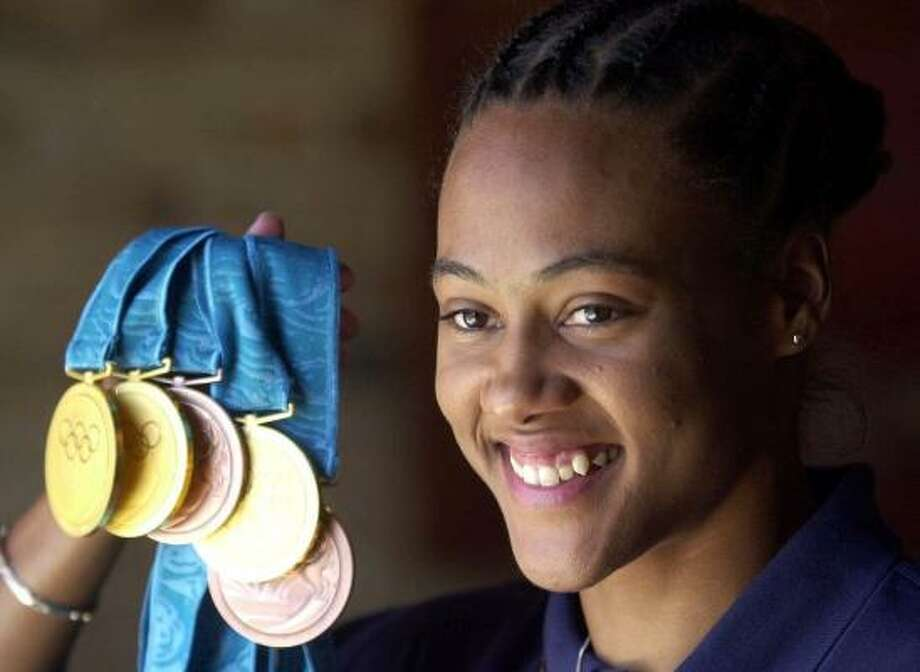"""Marion Jones admitted to family and friends in a letter that she began using """"the clear"""" in 1999 before the Sydney Olympics in 2000. Photo: Adam Butler, AP"""