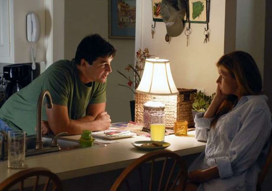 The new season of Friday Night Lights picks up eight months after the end of the Dillon football season. Coach Taylor (Kyle Chandler) has accepted a job a rung up the ladder, at a college in Austin. But his wife, Tami (Connie Britton), is about to give birth, and she's finding it tough at home. Photo: Bill Records, NBC