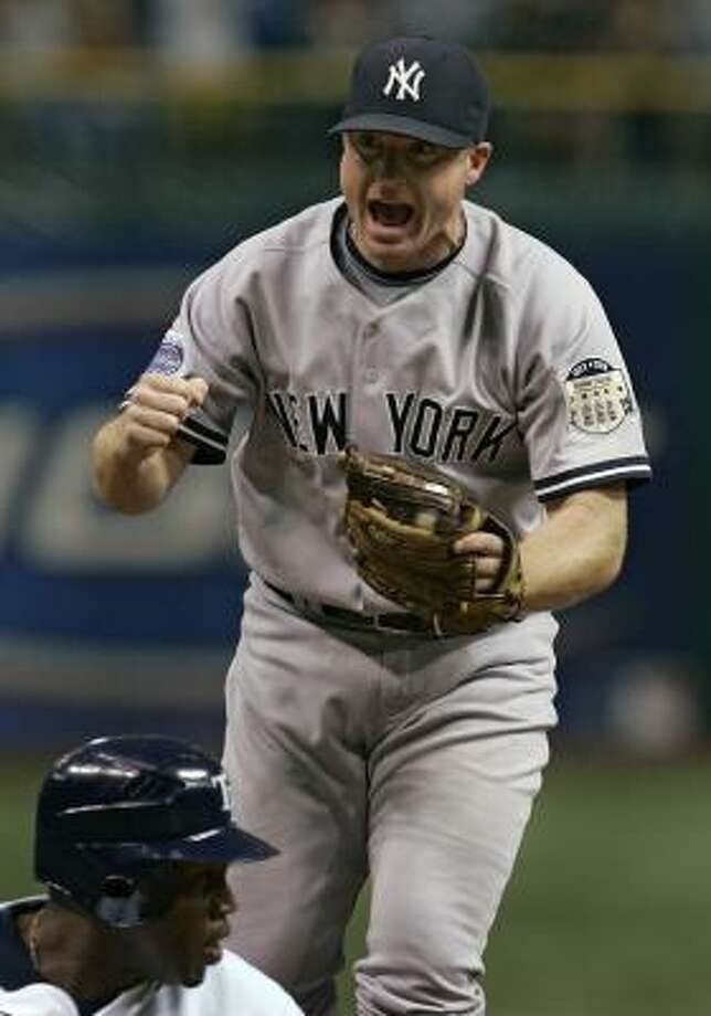 Morgan Ensberg, now with the New York Yankees, was one of the first players to be traded in what has been described as the biggest overhaul in Astros history. Photo: Chris O'Meara, AP