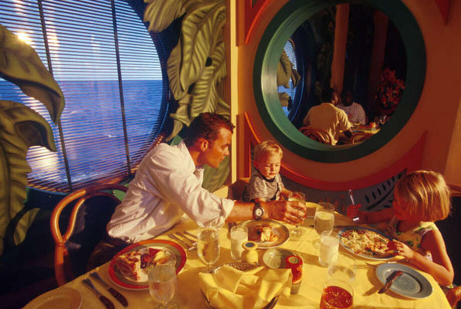 Parrot Cay, one of three restaurants on the ship, showcases the color and tropical tastes of the Caribbean. Photo: Disney Cruise Line