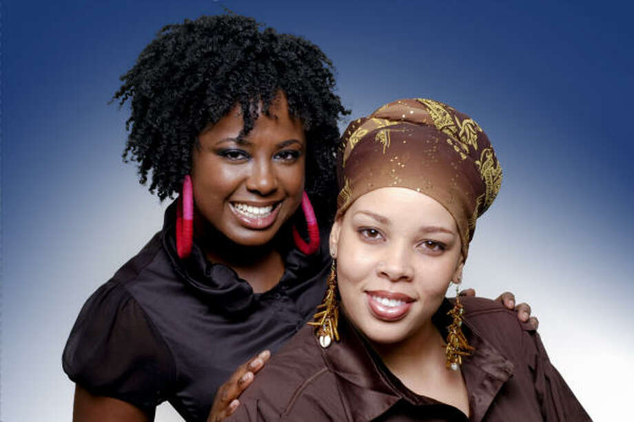Lakesha Reed, left, and Salima Muhammad, right, of Beaucoup Café.
