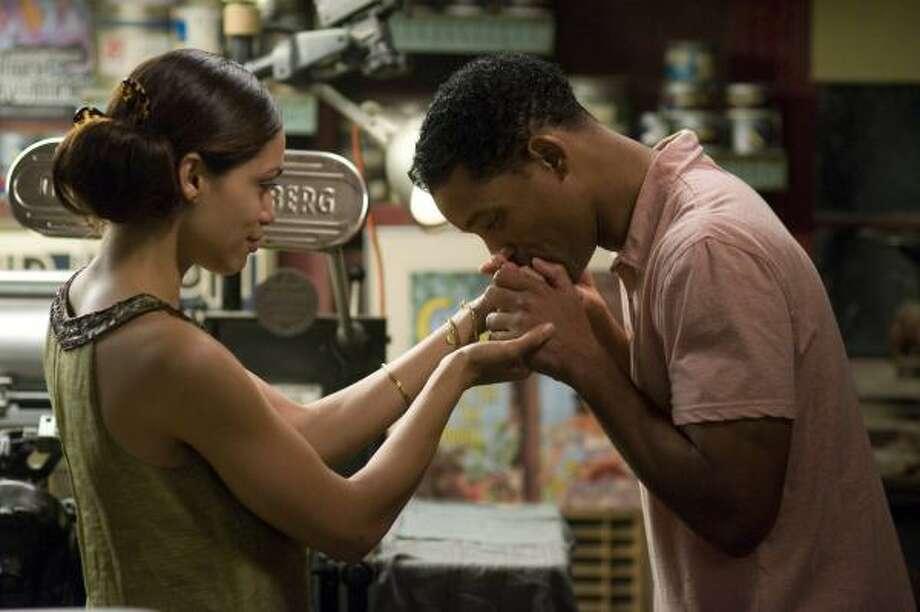 Will Smith and Rosario Dawson star in Seven Pounds. Photo: Merrick Morton, AP