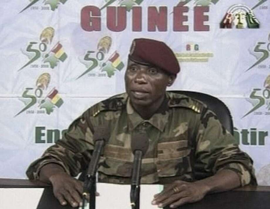 Moussa Camara assumed power in Guinea just hours after the death of Lansana Conte. The relative unknown pledges to have a zero tolerance policy against corruption that has plagued the country. Photo: ASSOCIATED PRESS