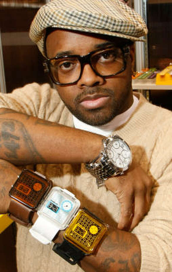 Jermaine Dupri sports retro-style eyewear. Photo: Ethan Miller, WireImage