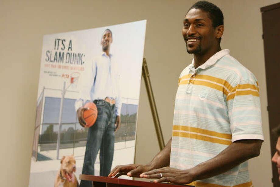 Ron Artest's work with the Houston Humane Society is one of the projects where he tries to use his notoriety to have a positive influence in the community. Photo: Mayra Beltran, Chronicle
