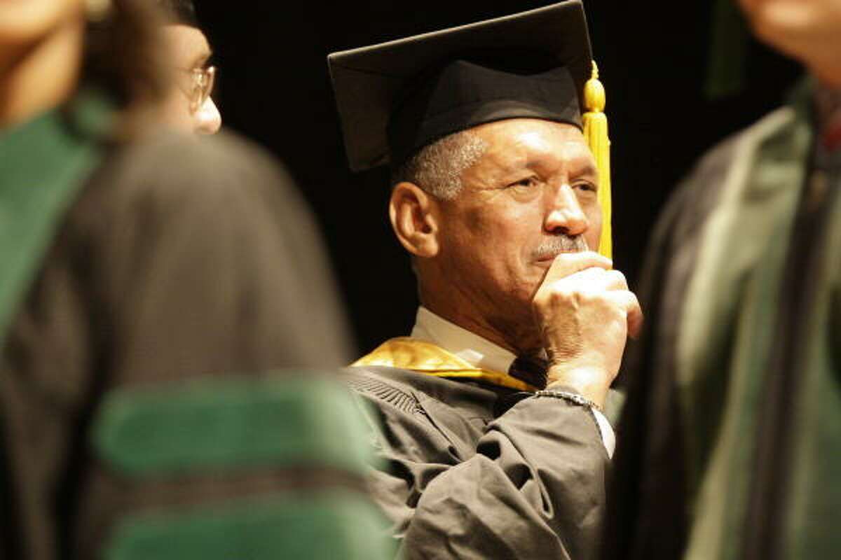 """Charles F. Bolden urged the Baylor College of Medicine graduates to """"do everything with passion."""""""