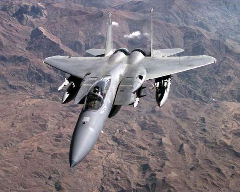 A U.S. Air Force F-15C jet is shown in this file photo Photo: SSGT VINCENT PARKER, AP