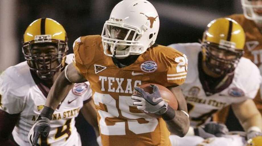 Texas' Jamaal Charles was taken in the third round by the Chiefs with the 73rd overall selection. Photo: Lenny Ignelzi, AP