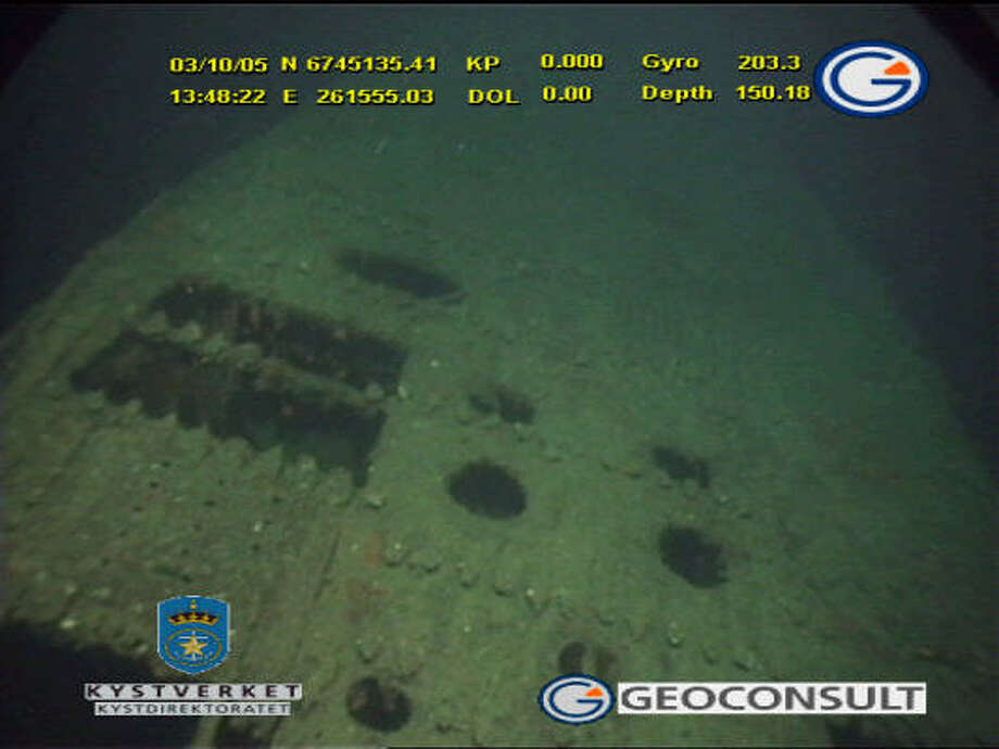 Studies reveal elevated levels of mercury around the wreck of the World War II German submarine U-864, 2.5 miles off Norway's coast. Photo: NORWEGIAN COASTAL ADMINISTRATION