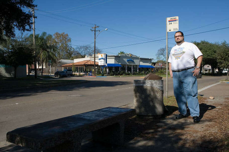 Dimitrios Fetokakis, owner of Niko Niko's Greek and American Café on Montrose Boulevard, is working with Metro and area residents to resurrect the Adopt A Bus Stop program. Photo: R. Clayton McKee, For The Chronicle
