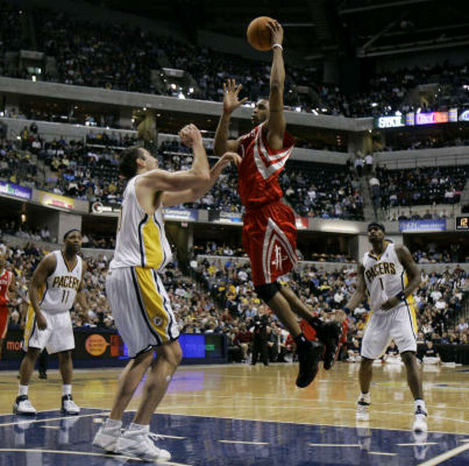 Tracy McGrady showed he was not rusty, but the Rockets still couldn't get a win. Photo: Darron Cummings, AP