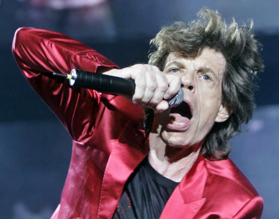 Mick Jagger performs during a Rolling Stones 'Bigger Bang' tour in Barcelona, Spain, June 21. Photo: MANU FERNANDEZ, AP