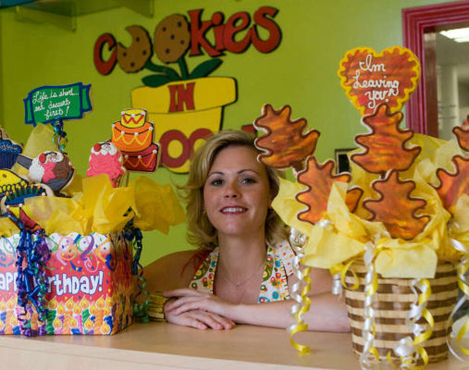 Kelly Lawrence opened a Cookies in Bloom franchise at 5184 Buffalo Speedway in West University Place in 2004. Photo: R. Clayton McKee, For The Chronicle