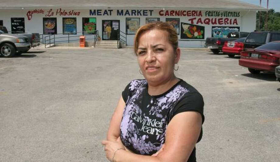 Guadalupe Barragan, owner of La Potosina Meat Market, says Hispanic immigrants moving to Waller County boost her business. Photo: Gary Fountain, For The Chronicle