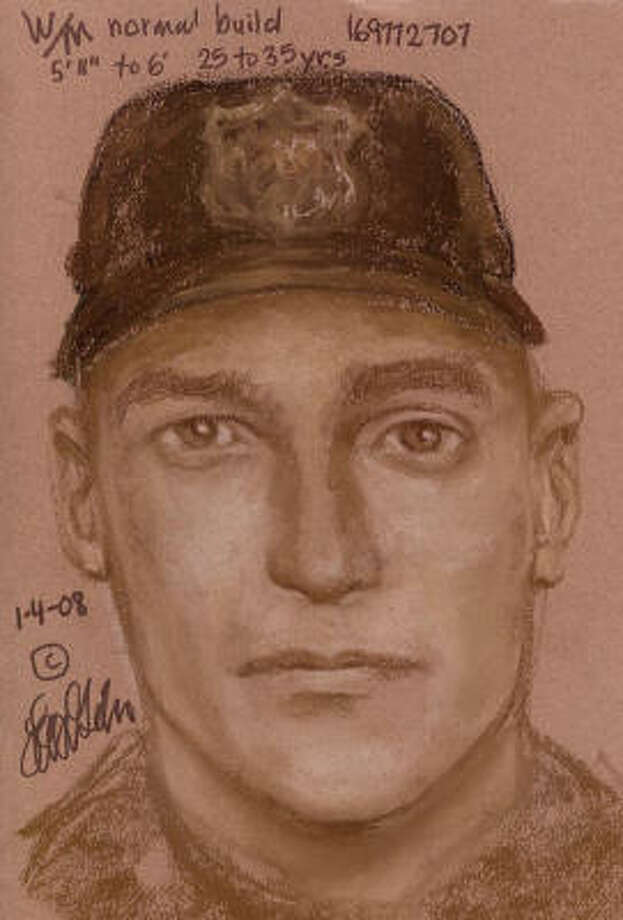 Police released a sketch of a man believed to have impersonated an officer in an alleged sex assault. Photo: Houston Police Department