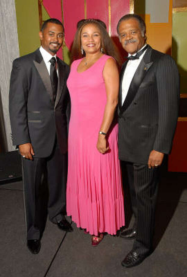 JeCaryous Johnson, from left, Ella Joyce and Ted Lange Photo: Dave Rossman, For The Chronicle