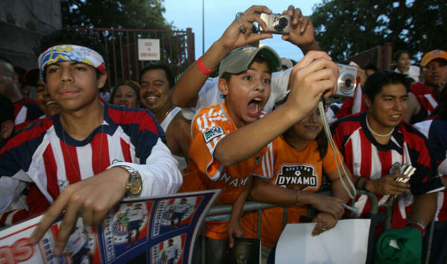 The Dynamo would like to see fans young and old at Saturday night's home game. Photo: Billy Smith II, Chronicle