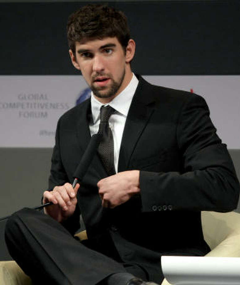 Michael Phelps landed in hot water after a photo of him apparently smoking marijuana was published in a tabloid. Photo: MARWAN NAAMANI, AFP/Getty Images