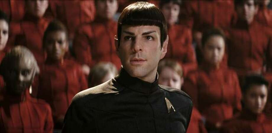 "With ""Star Trek into Darkness"" scheduled to open May 16, Audi just put out an add featuring Leonard Nimoy and Zachary Quinto, the original and new Spocks from ""Star Trek."" Here's Quinto as Spock. Photo: PARAMOUNT PICTURES"