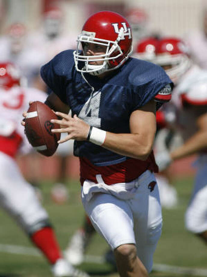 University of Houston senior quarterback Kevin Kolb is up for the Heisman this season. Photo: Aaron M. Sprecher, Chronicle File