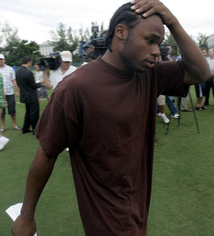 Miami safety Anthony Reddick was among the players who apologized after the brawl. Photo: WILFREDO LEE, AP