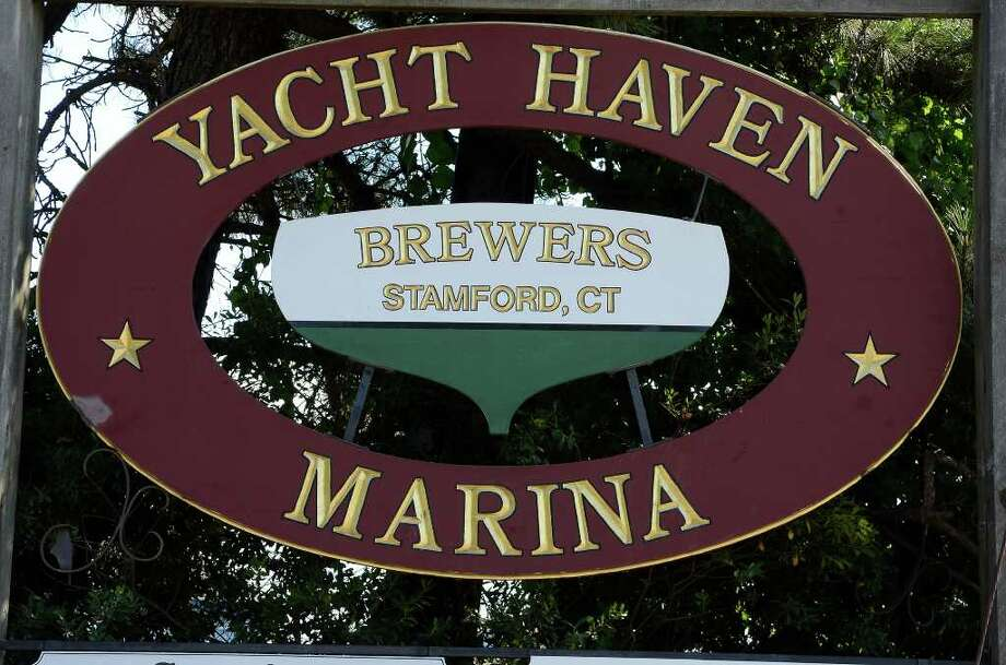 A sign for Brewers Yacht Haven West in Stamford, CT, photographed on Sunday July 31, 2011. Photo: Shelley Cryan / Shelley Cryan freelance; Stamford Advocate freelance