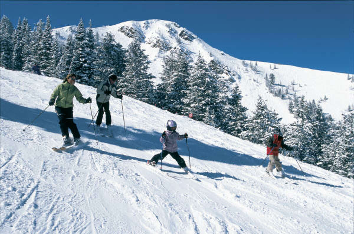 Long, wide runs and about 600 inches of annual snowfall mark Utah's Park City a favority among skiing families.