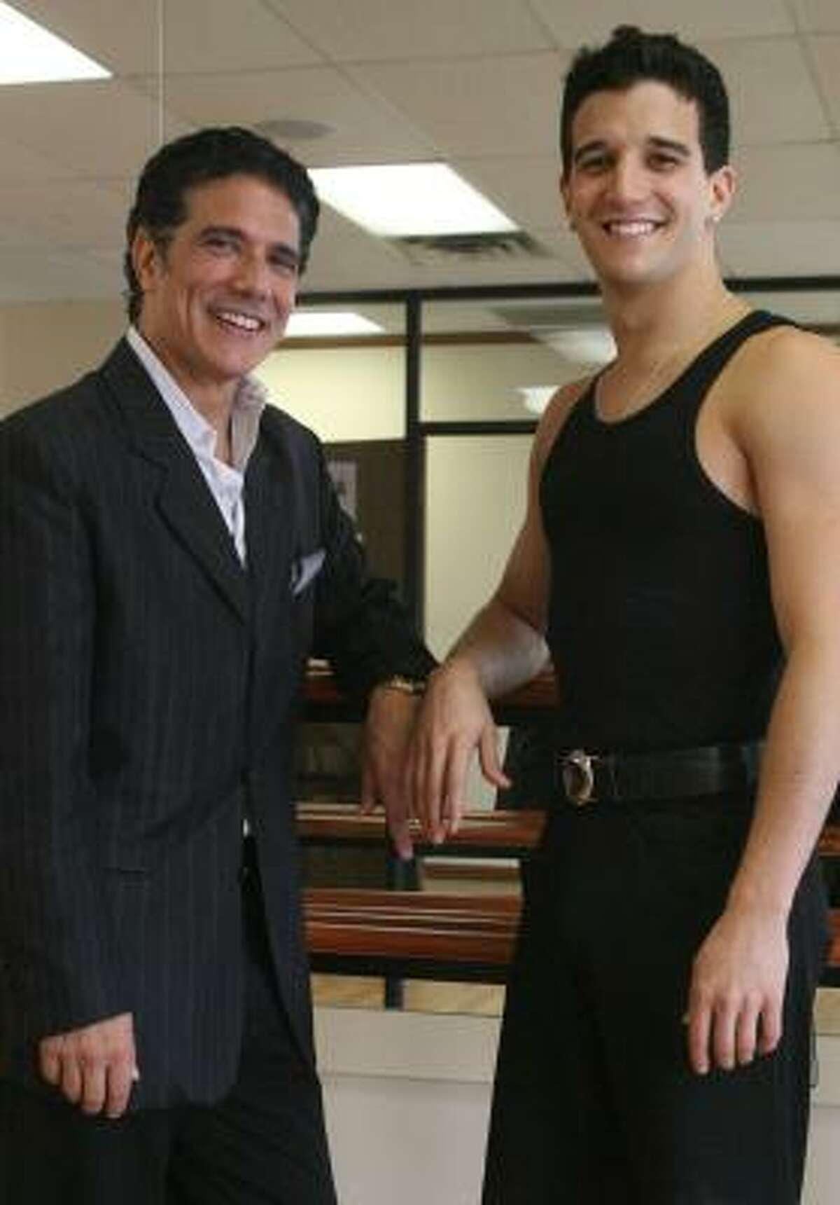Corky Ballas, left, served as dance instructor for son Mark and two other competitors on Dancing With the Stars — siblings Derek and Julianne Hough.