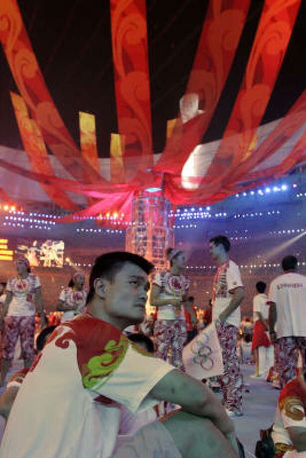 Yao Ming has been carrying the burden of China's representation and expectation since the games were awarded to Beijing in 2001. Photo: Ricardo Mazalan, AP