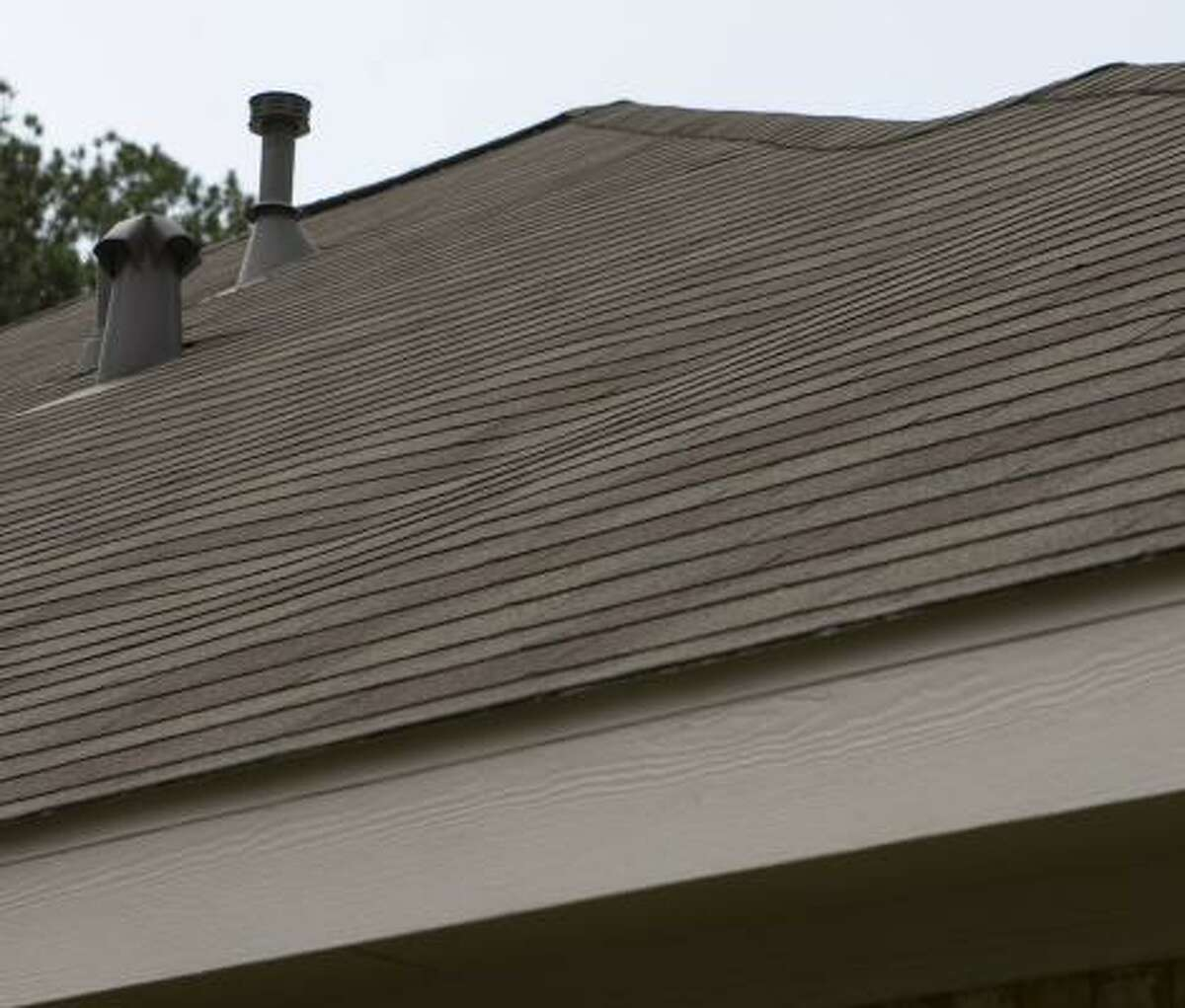 Bennett's roof shows buckling in several places.