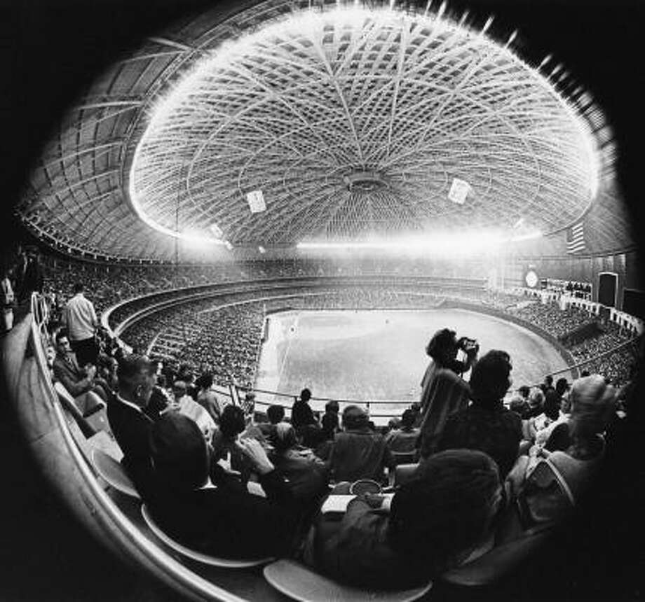 The opening night of the Astrodome in 1965. Photo: Geoff Winningham, Courtesy Geoff Winningham