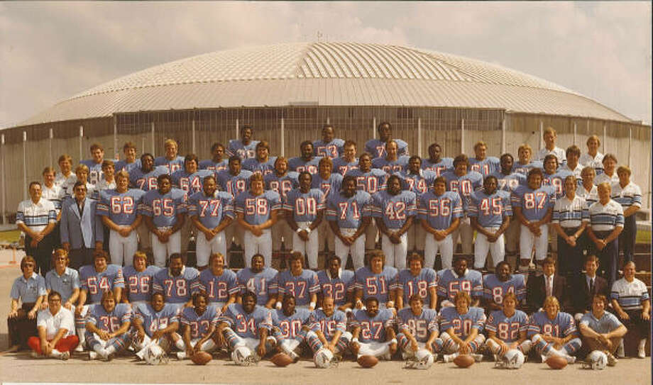 1979 Houston Oilers team photo.
