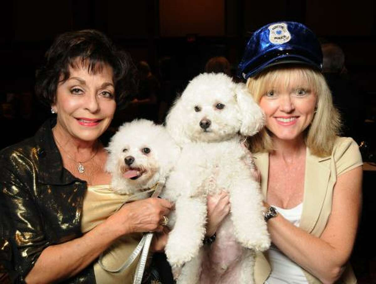 Judy Nichols with Lilly and Brenda Cheney with Frankie