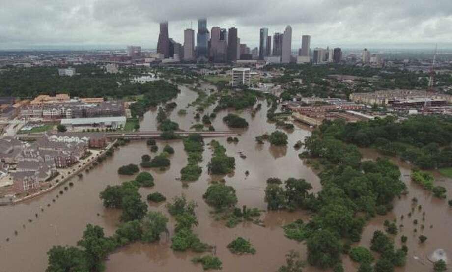 PHOTOS: When Tropical Storm Allison hit Houston in 2001 Buffalo Bayou after Tropical Storm Allison hit in 2001.>>>Click through to see more photos of the storm's impact on Houston... Photo: Ben DeSoto, Houston Chronicle