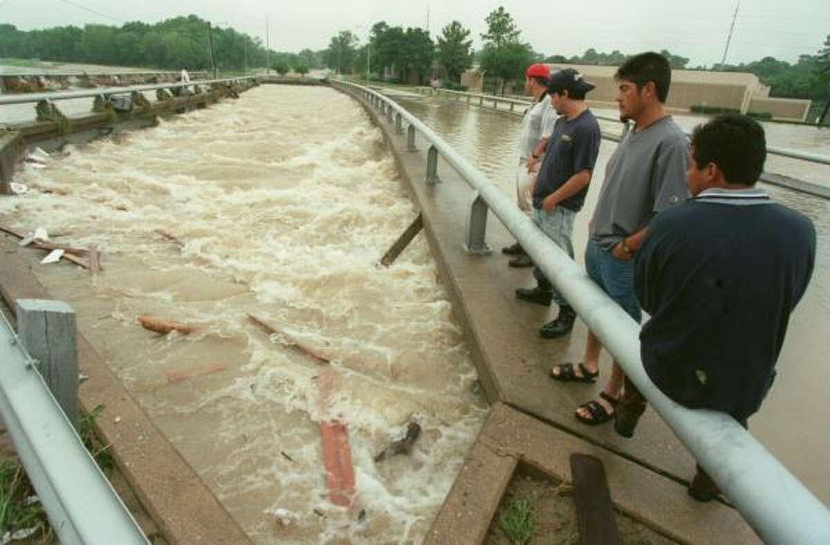 Tropical Storm Allison hits Houston in 2001
