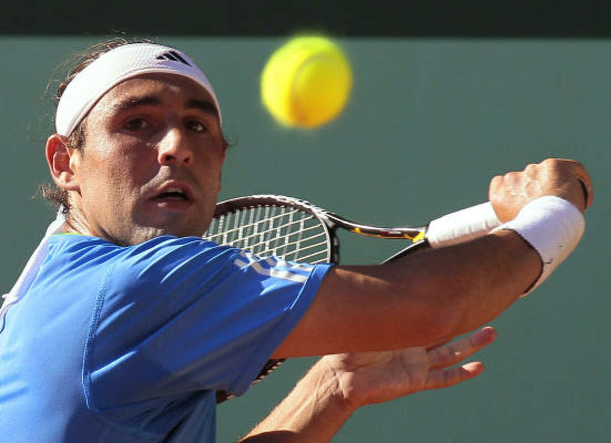 27th ranked Marcos Baghdatis got past Frederico Gil in three sets 7-6, 6-4, 6-2 to move to the second round.