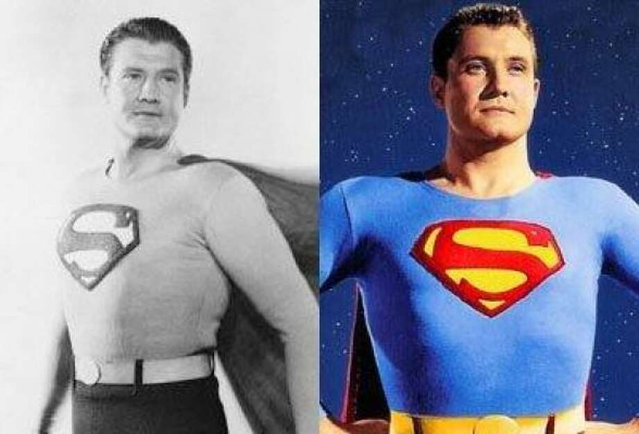 Celebrities as superherosGeorge Reeves in Superman and the Mole-Men, 1951 Photo: Getty