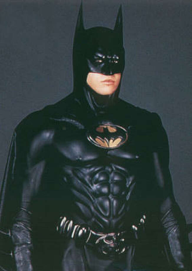 "The costume in ""Batman Forever,"" 1995, introduced more muscle definition and a new leading man in Val Kilmer. Photo: Getty"
