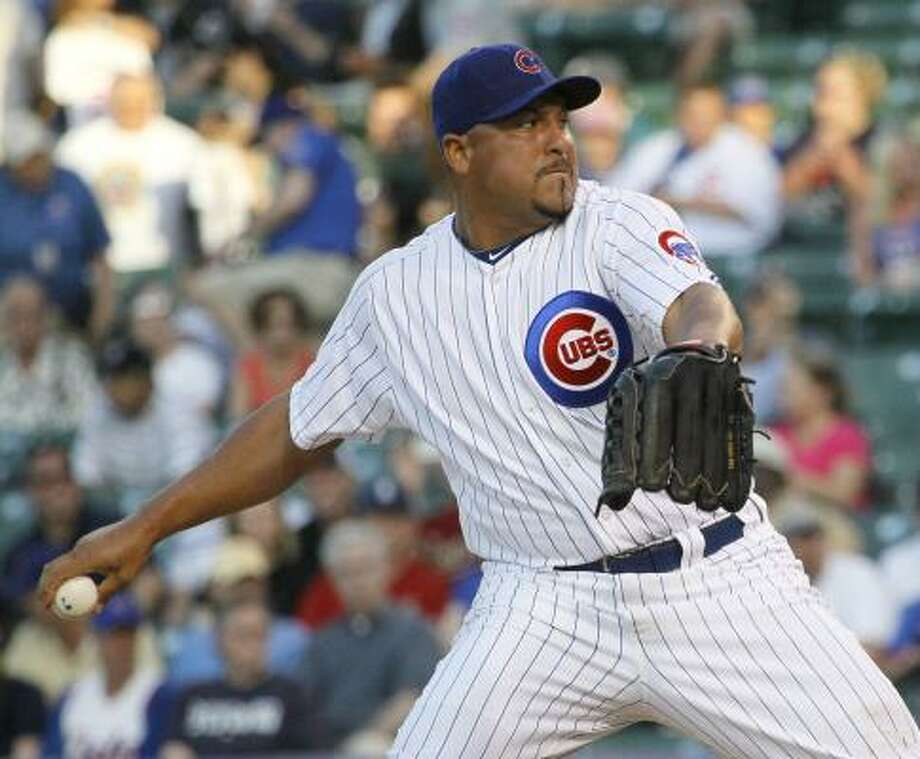 Cubs starting pitcher Carlos Zambrano delivers during the first inning. Photo: Charles Rex Arbogast, Associated Press