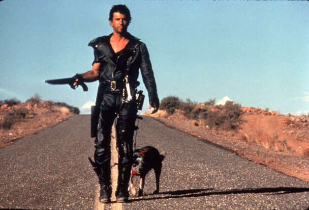Mad Max and sequals Society breaks down as the world runs out of oil. Things get worse from there. But Mel Gibson does something about it. Photo: Fox